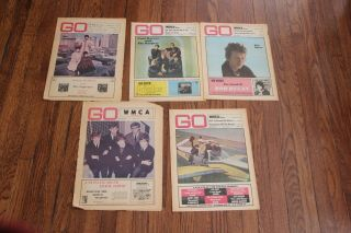 "5 - Vintage "" Go "" Magazines Rock And Pop - 1966"