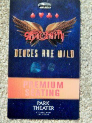 Aerosmith Premium Seating 3 - D Credential July 2019 Park Theater Las Vegas