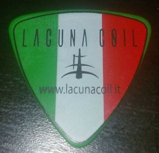 Lacuna Coil Italian Flag Family Portrait Green Guitar Pick