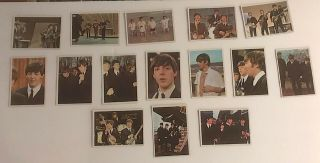 Beatles Trading Cards 15 Total,  Near