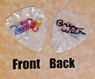 Beach Boys Band Logo Brian Wilson Signature Guitar Pick - (w)