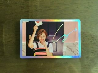 Twice 4th Mini Album Signal Official Photocard Special Version 1pcs Chaeyoung