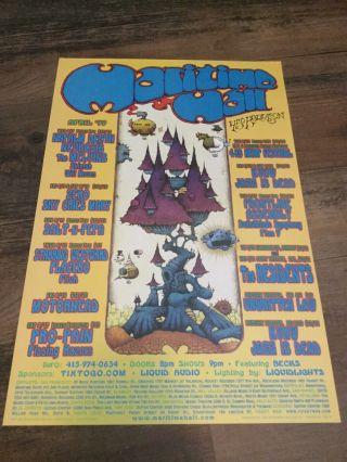 The Residents At Maritime Hall April '99 Show Poster - -