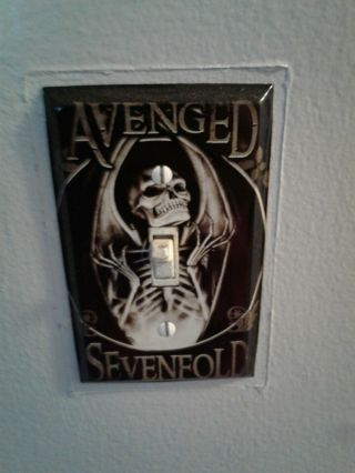 Avenged Sevenfold Metal Light Switch Cover Plate