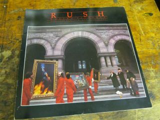 Rush Moving Pictures 1981 Tour Program Rock Memorabilia