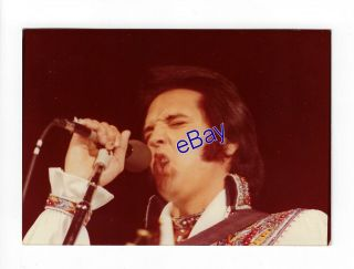 Elvis Presley Kodak Concert Photo 1975 Close - Up - Jim Curtin Vintage