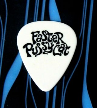 Faster Pussycat // Brent Muscat Tour Guitar Pick // White/black La Guns