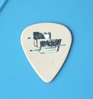 Thin Lizzy // Scott Gorham Tour Guitar Pick // White/foil Sparkle 21 Guns
