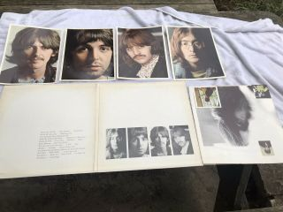 Vintage The White Album By The Beatles W Poster And Portraits