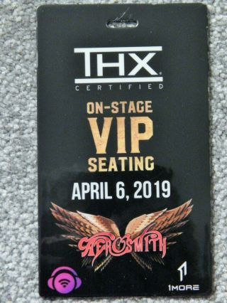 Aerosmith On - Stage Vip Seating Credential April 6 2019 Park Theater Las Vegas