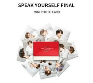 Bts World Tour Speak Yourself{the Final} Official Md: Mini Photo Card [rm]