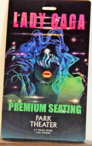 Lady Gaga Enigma At Park Theater Vegas May 2019 Orig 3 - D Lenticular Credential