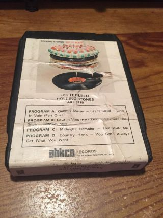 Rolling Stones/ Let It Bleed,  Abkco Records 8 Track Tape