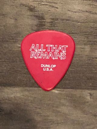 All That Remains Authentic Tour Guitar Pick