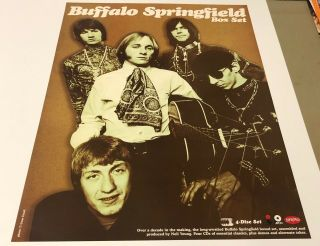 Buffalo Springfield Anthology Promo Only Poster 24x18 Rhino Records 2 - Sided