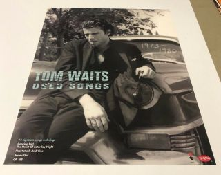 """Tom Waits """" Songs """" Elektra Records Promo Only Poster 24x18"""
