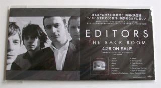 Editors The Back Room Promo Counter Stand Advert Japanese Only Rare