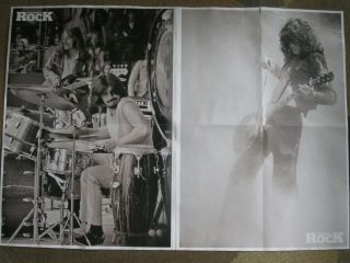 """Led Zeppelin Poster And Book Page Plant Bonham Jones 2 Sided 32 3/4 """" X 23 """""""