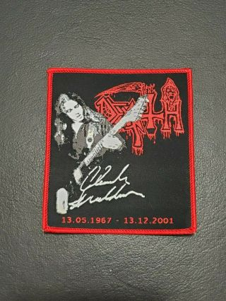 Death Chuck Schuldiner Music Patch T - Shirt,  Jeans,  Iron On Clothing Woven Badge