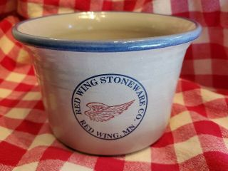 Red Wing Logo Advertising Crock Bread Baker Redwing Stoneware Pottery
