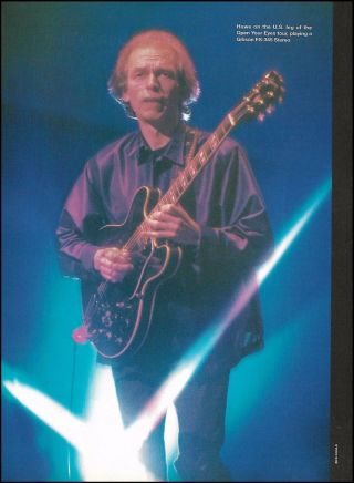 Steve Howe (yes,  Asia) With His Gibson Es - 345 Stereo Guitar 8 X 11 Pin - Up Photo